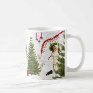 Vintage Child & Westie Wishes For Merry Christmas Coffee Mug
