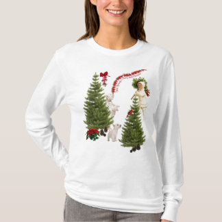 Vintage Child & Westie Wishes For Merry Christmas T-Shirt