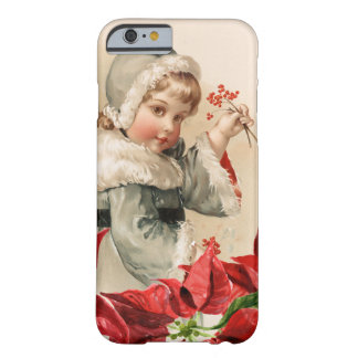 Vintage Child With Berries and Pointsettias Barely There iPhone 6 Case