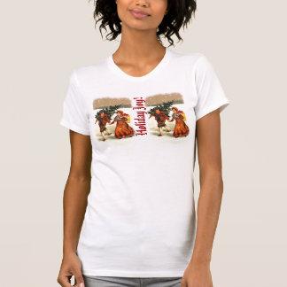 Vintage Children and Christmas Tree Holiday Joy Tshirts