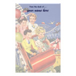 Vintage Children Balloons Dog Roller Coaster Ride Stationery Paper