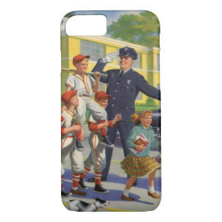 Vintage Children, Baseball Players Crossing Guard iPhone 8/7 Case