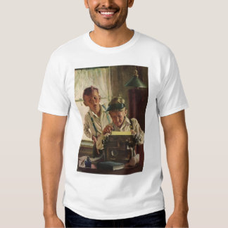 Vintage Children Boy Newspaper Journalists, Writer Shirt
