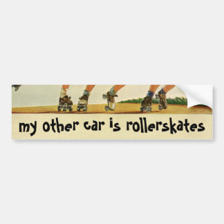 Vintage Children, Boys Girls Fun Roller Skating Bumper Sticker