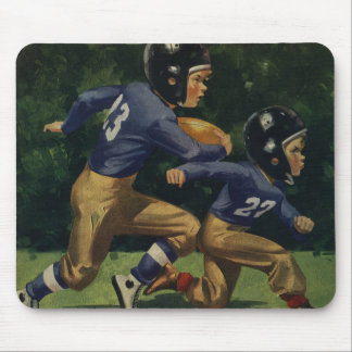 Vintage Children, Boys Playing Football, Sports Mouse Pad