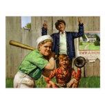 Vintage Children Boys Sports Baseball Player Game Postcards