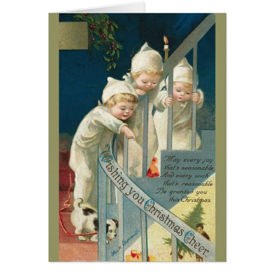 Vintage Children Christmas Card