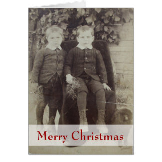 Vintage Children Christmas Greeting Card
