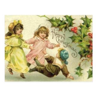 Vintage Children Christmas Postcard