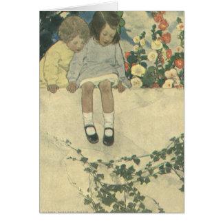 Vintage Children, Garden Wall Jessie Willcox Smith Cards