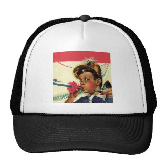 Vintage Children Girl Noise Maker Birthday Party Mesh Hats