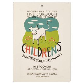Vintage Children's Art custom clipboard