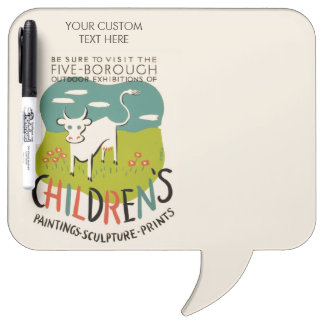 Vintage Children's Art custom message board Dry Erase Boards