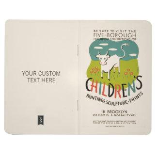 Vintage Children's Art custom pocket journal