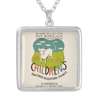 Vintage Children's Art necklace