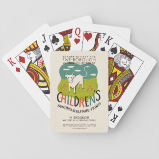 Vintage Children's Art playing cards