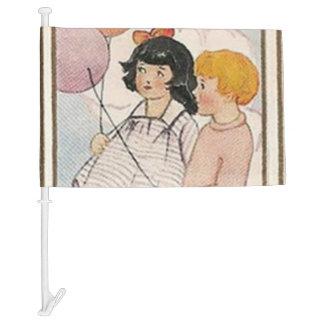 Vintage Children's Birthday Party Car Flag