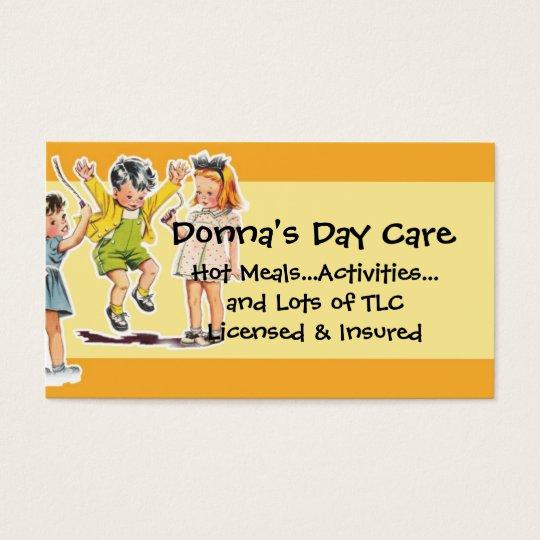 Vintage Children's Illustration Day Care Services Business