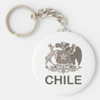 Vintage Chile Coat Of Arms Basic Round Button Key Ring