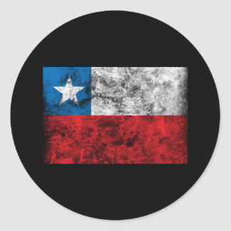 Vintage Chile Flag Classic Round Sticker