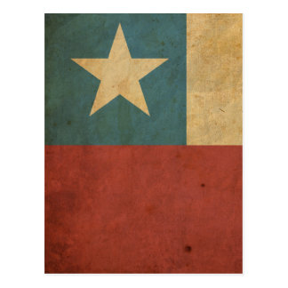 Vintage Chile Flag Postcard