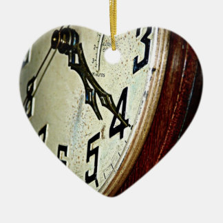Vintage Chime Clock Ceramic Heart Decoration