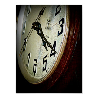 Vintage Chime Clock Poster