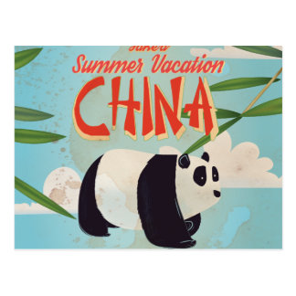 Vintage China Vacation Poster Postcards