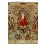 Vintage Chinese Buddhist Fine Art Images Note Card