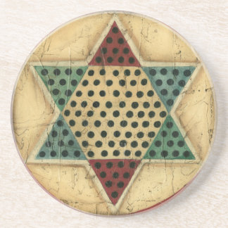 Vintage Chinese Checkerboard by Ethan Harper Coaster