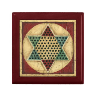 Vintage Chinese Checkerboard by Ethan Harper Small Square Gift Box