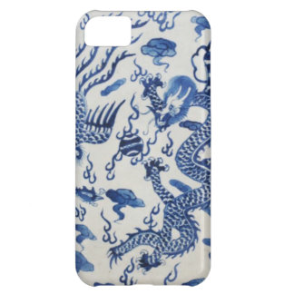 Vintage chinese dragon chinoiserie monaco blue iPhone 5C cases