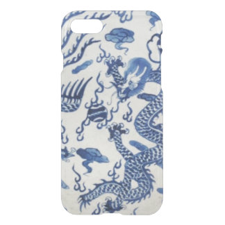 Vintage chinese dragon chinoiserie monaco blue iPhone 7 case