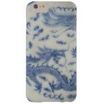 Vintage chinese dragon monaco blue chinoiserie