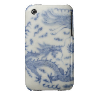 Vintage chinese dragon monaco blue chinoiserie iPhone 3 Case-Mate case