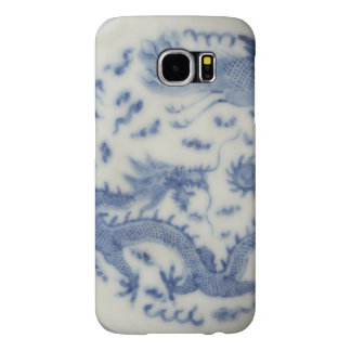 Vintage chinese dragon monaco blue chinoiserie samsung galaxy s6 cases
