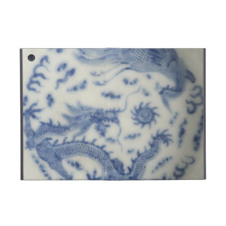 Vintage chinese dragon monaco blue chinoiserie covers for iPad mini
