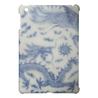 Vintage chinese dragon monaco blue chinoiserie iPad mini cover