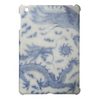 Vintage chinese dragon monaco blue chinoiserie iPad mini cover