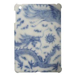Vintage chinese dragon monaco blue chinoiserie cover for the iPad mini