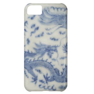 Vintage chinese dragon monaco blue chinoiserie iPhone 5C case