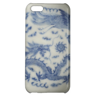 Vintage chinese dragon monaco blue chinoiserie iPhone 5C cases