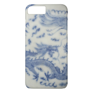 Vintage chinese dragon monaco blue chinoiserie iPhone 7 plus case