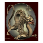 Vintage Chinese Dragon Print