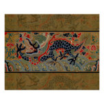 Vintage Chinese Dragon Symbol of Strength Poster