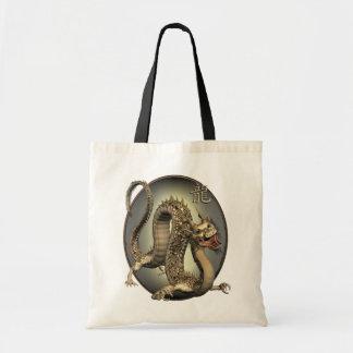 Vintage Chinese Dragon Tote Bag