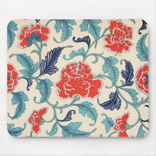 Vintage Chinese Floral Design Mouse Mat