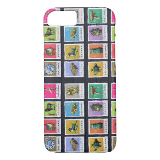 Vintage Chinese Postage Stamps iPhone 8/7 Case