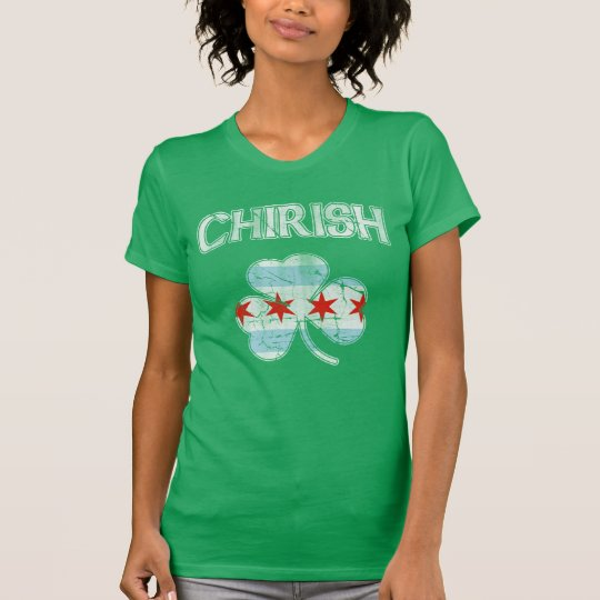 Vintage Chirish Shamrock Chicago Flag T-Shirt