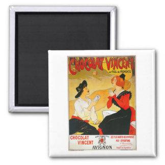 Vintage Chocolat Vincent Ad Square Magnet